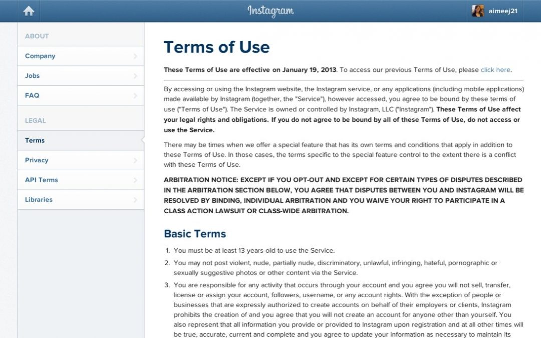 Terms of Service – Agreements