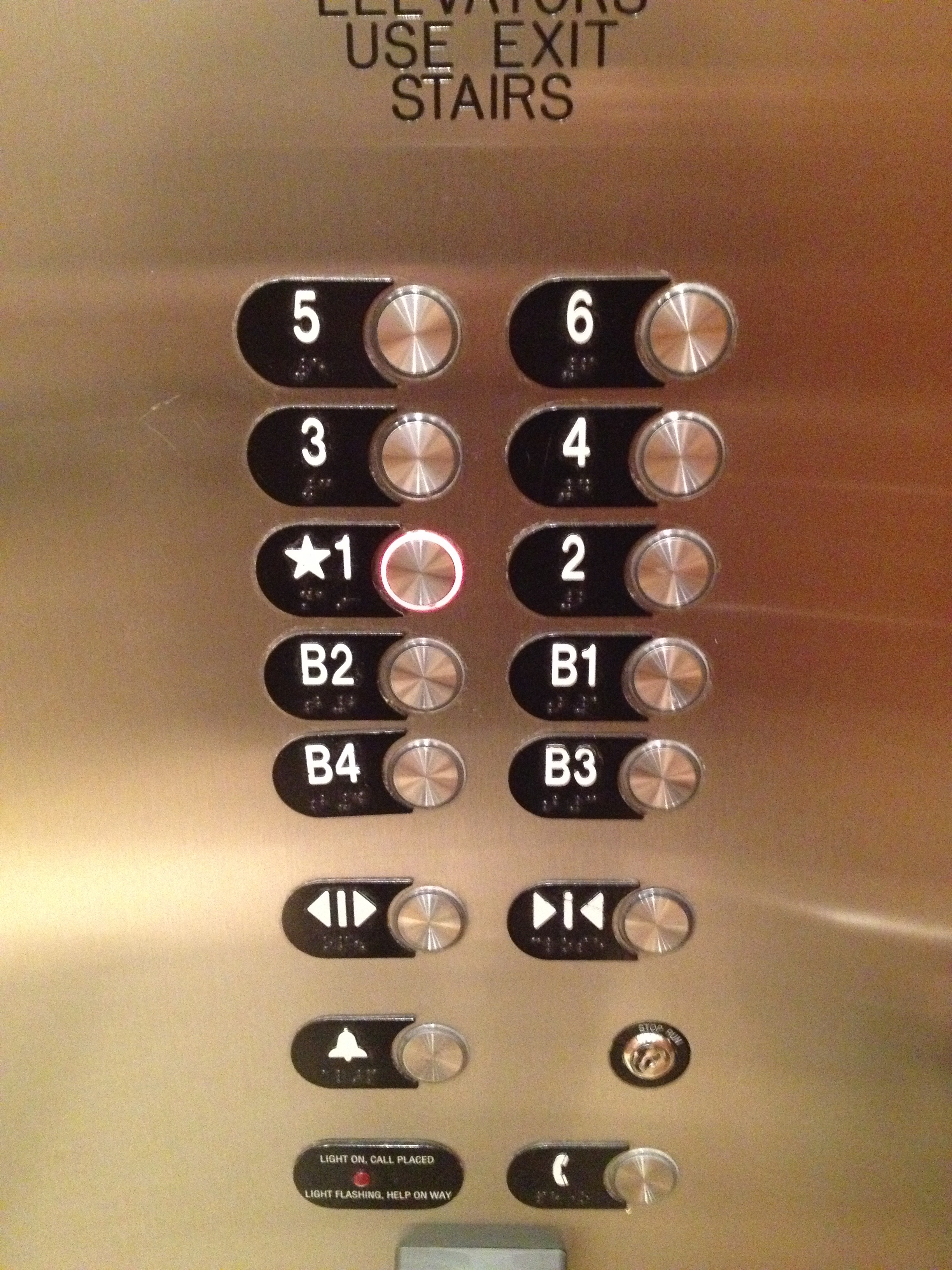 Main Floor on an Elevator