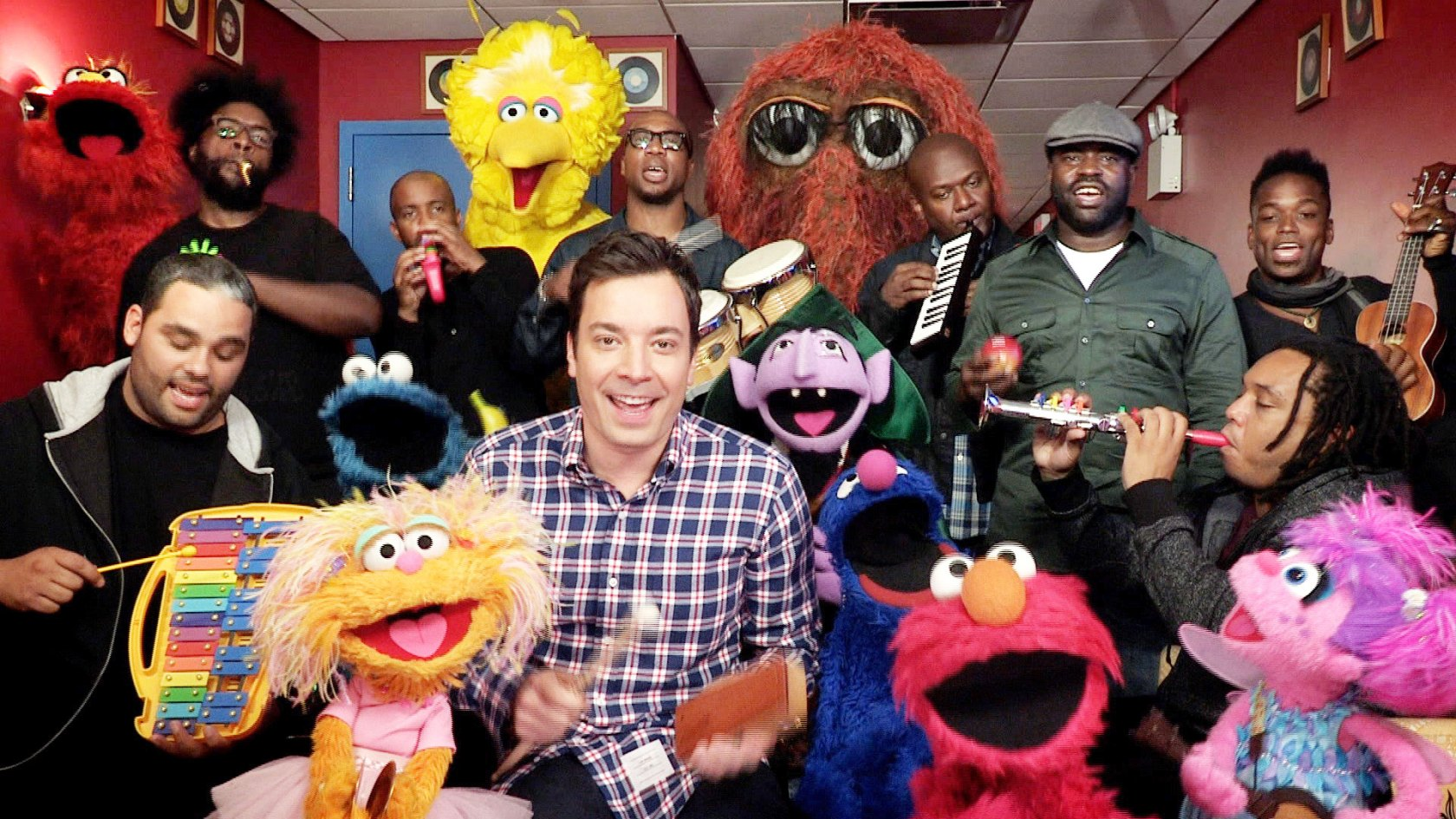 Jimmy Fallon & Sesame Street Bring Some Happiness to the Day