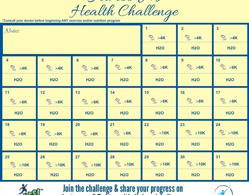 Aimee J.'s May Health Challenge