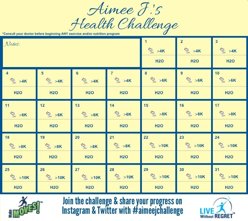 Aimee J.'s May Health Challenge